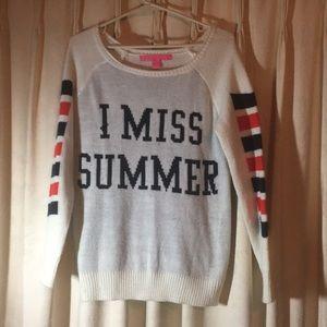 I miss Summer Sweater